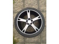 ABT Sportsline Audi Q7 Grey 5 spoke VW Porshe 22 inch genuine alloy wheel 285