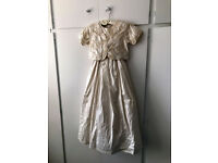 BHS Age 10 girls cream silk bridesmaid dress