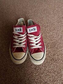 Ladies size 5.5 converse