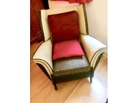 Comfortable Retro Winged Armchair