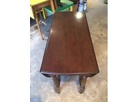 Solid oak oval folding table