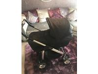Silver cross deluxe pram with car seat and isofix base