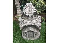 Stone garden fairy houses, fantastic detail. 2 designs available.