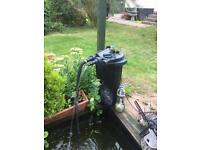 Fishpond filter, pump and electrical box