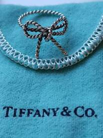 Tiffany & Co. Twist bow ring sterling silver