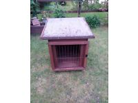 Rabbit or guinea pig hutch wooden, very strong, easy to transport as base and roof can be lifted off
