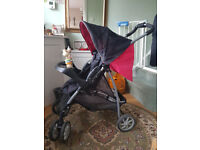 graco mirage pushchair stroller with foot muff and raincover