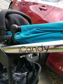 I candy for sale includes rain cover cosy toes sun cover and car seat adaptors used but good nic