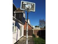 Full Sized Basketball post and back board