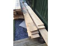 50 lengths plus Rough sawn timber 300mm x 2.4m £5 per length