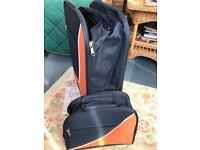 Orange & Navy weekend case + vanity bag.