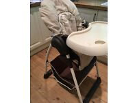 Hauck Sit N Relax Highchair and Bouncer - Beige