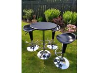 Bar Table and 3 Gas Lift Stools