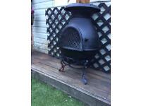 garden wood burner /fire chimiler