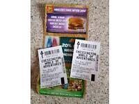 2x Chessington tickets