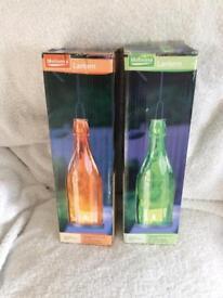 Tea Light Glass Bottle Lanterns