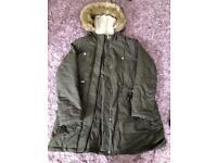 Khaki maternity jacket size 12