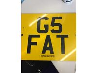 Private number plate G5 FAT
