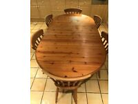 Pinewood Table & 6 Chairs