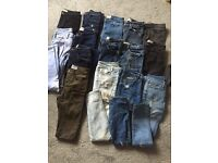 Bundle of 15 pairs of womens jeans, all excellent condition. Most never worn, all fit size 6.