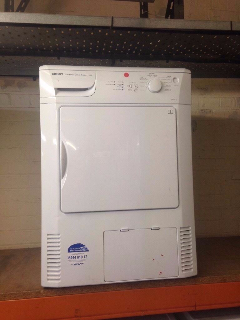 BEKO 6KG CONDENSER SENSOR DRYER WHITE RECONDITIONED