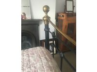 King Size iron and brass bed