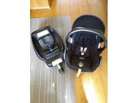 Maxi-Cosi CabrioFix group 0+ car seat and EasyFix Isofix base