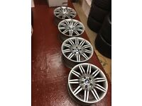GENUINE BMW 172 M SPORT 19 INCH WHEELS ALLOYS,E60 E39, M5, E61,E90, E61 SPIDERS