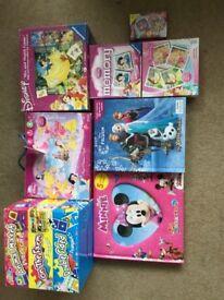Disney Princess Minnie Mouse games and jigsaws bundle
