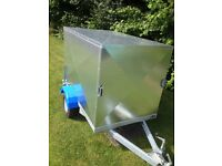 camping or luggage trailer 6ftx4ftx4ft high fully galvanised with rear shutter weather proof
