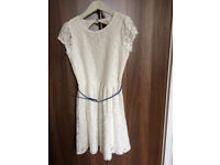 Yumi Girl lace party dresses 13/14 years - one cream and one navy