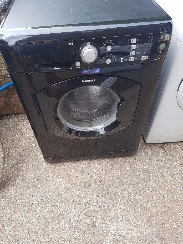 Blak washing machine hotpoint
