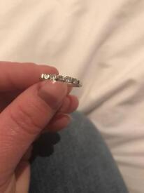 Beaverbrooks white gold ring