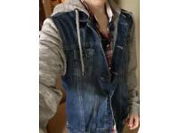 Denim jacket hooded