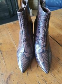 Karen Millen Snake Print Boots