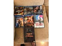 7 dvd's and blu rays