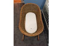 Moses basket and mattress