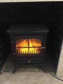 Electric log stove