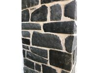 7 m2 of dressed whin walling stone with 7x coping stones