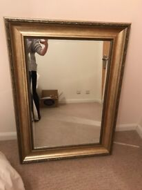Large gold / bronze heavy mirror excellent condition