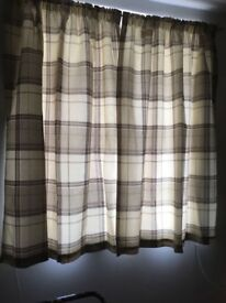 Cream and beige 54drop by 48width curtains
