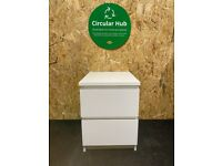 IKEA Birmingham, MALM Chest of 2 drawers # 2, white 40x55 cm, WAS £40 #bargaincorner