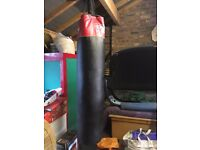 Punch Bag 1.4 m high excluding straps and hanging chain