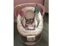 Pink bouncy seat