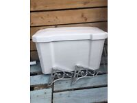 Victorian toilet cistern and chain, basin and stand for sale