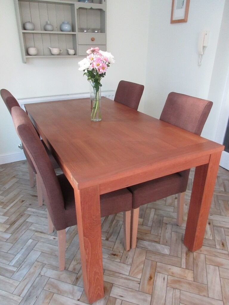 Furniture Village Aylesbury furniture village large dining table and four chairs | in
