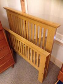 Single bed wooden. Ends only
