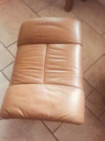 Stresslees chair recliner & foot stool
