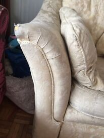 Last reduction Before eBay Large 2 seater sofa and pouffe