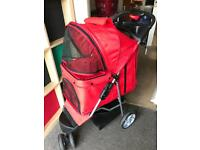 Dog 3 wheeled pushchair used for a week